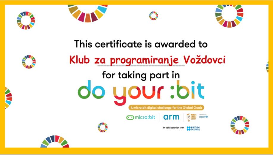 Doyourbit_sertifikat_Voždovci